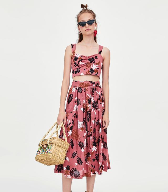 Zara Tropical Print Top