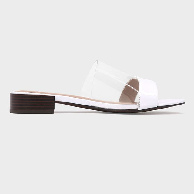 Who What Wear Piper Lucite Heeled Slide Sandals