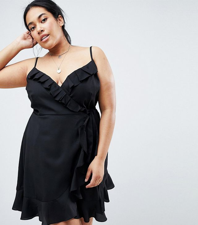 ASOS Curve Strappy Ruffle Dress