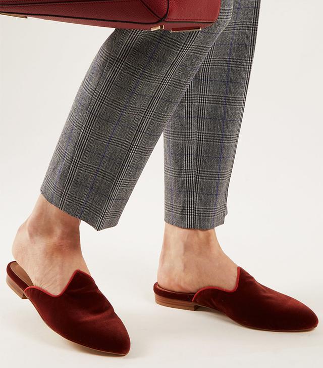 Le Monde Beryl Venetian Velvet Backless Slippers