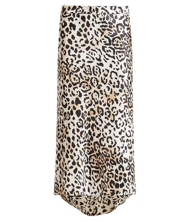 Raey Bias Leopard-Print Skirt