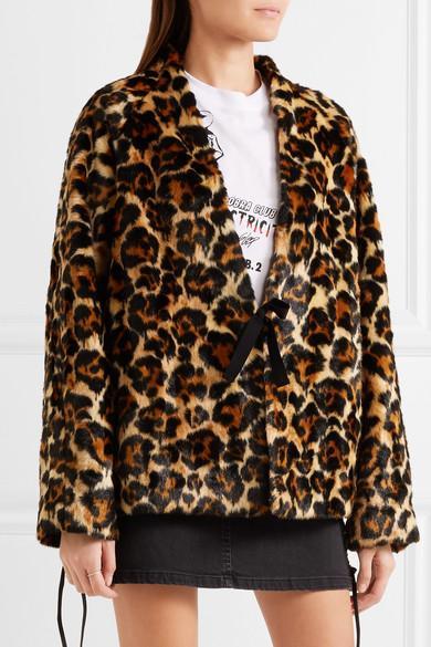 Alexander McQueen Leopard-Print Faux Fur Coat