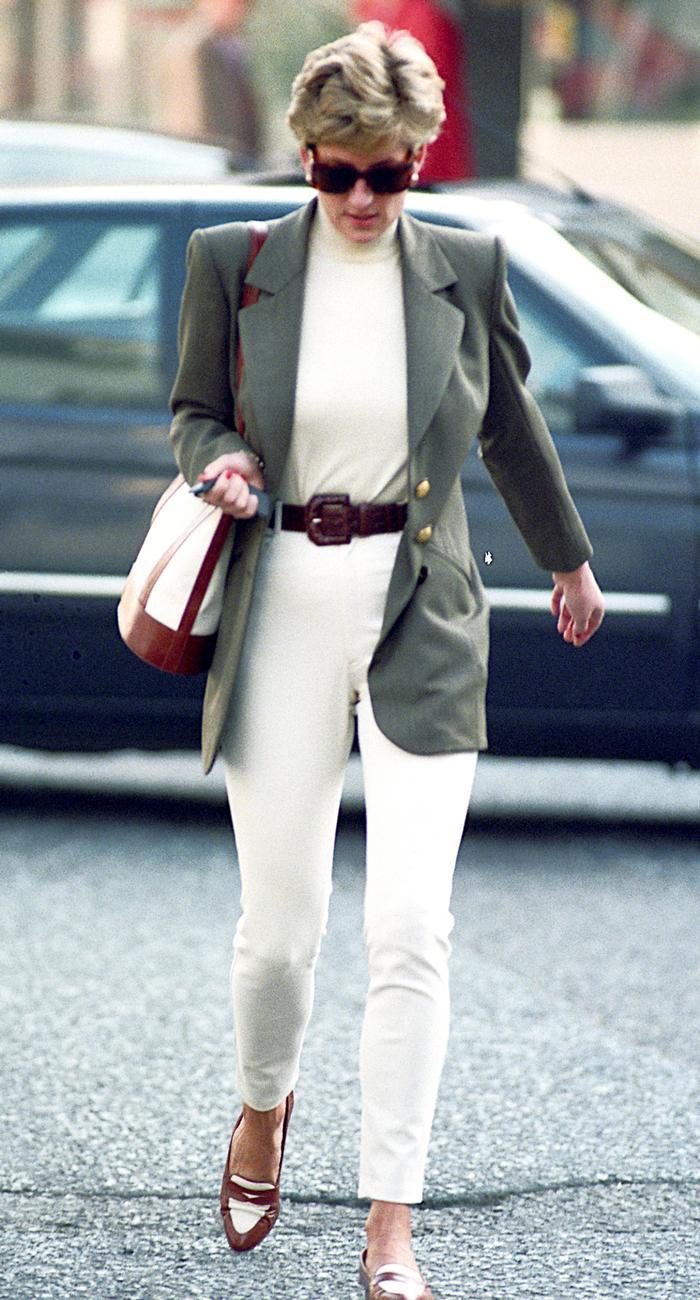 Princess Diana Wearing a blazer