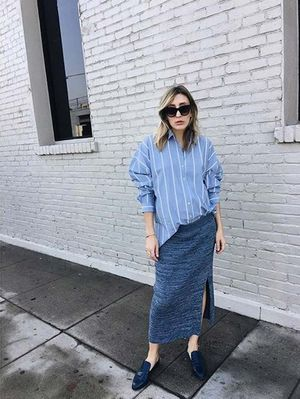 15 Maternity Chambray Shirts for Every Parent-to-Be
