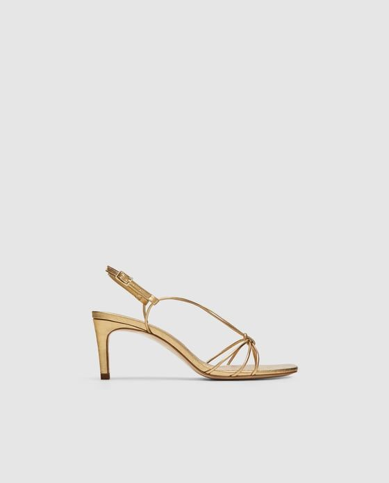Gold Leather Summer Wedding Shoes for the Bride