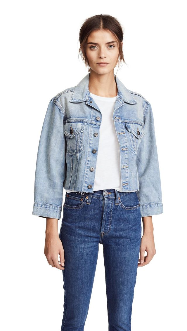 LMC x SHOPBOP Cropped BF Trucker Jacket