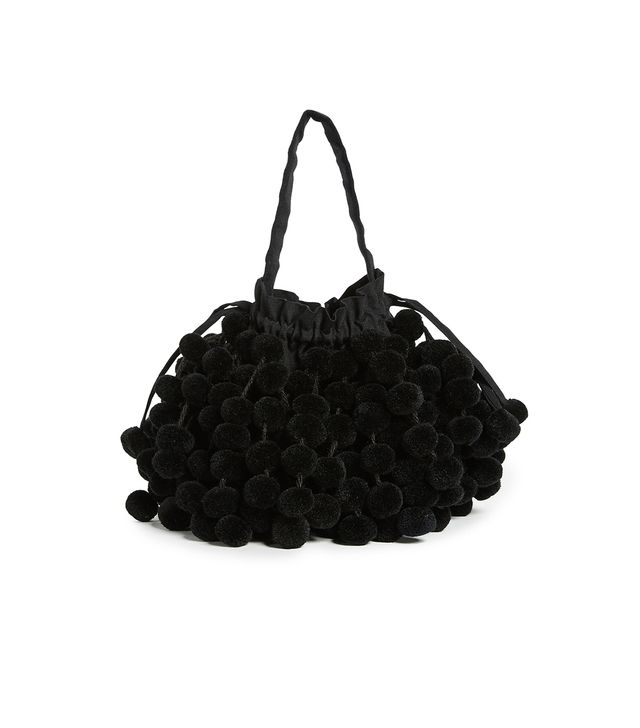 Charlotte Pom Pom Bucket Bag