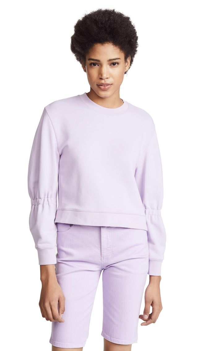 Sculpted Sleeve Sweatshirt