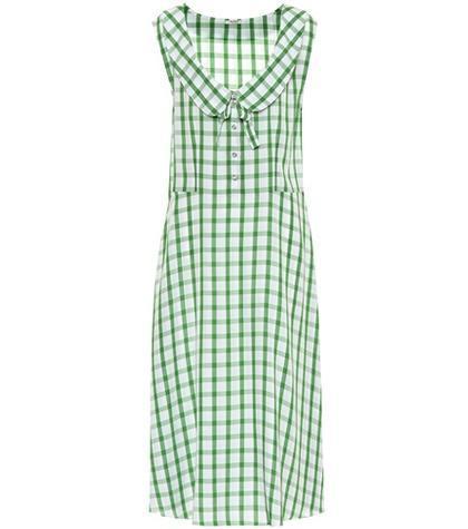 Sleeveless gingham dress