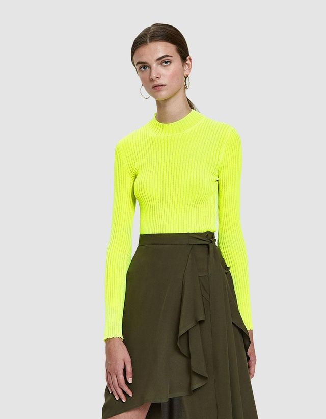 Ribbed Flo Knit Top in Citron