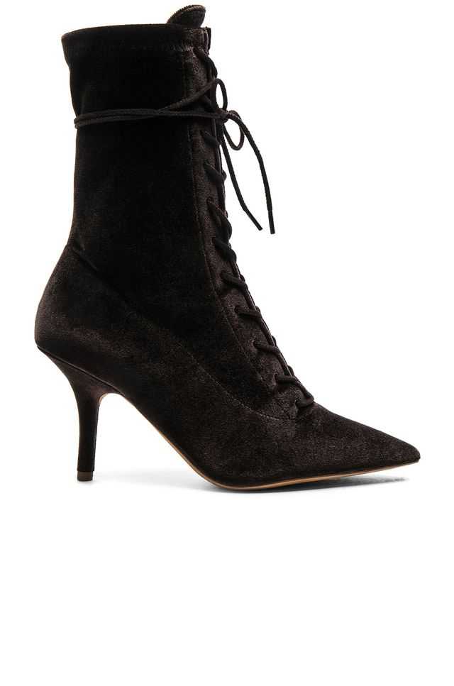 Yeezy Velvet Lace-Up Boots