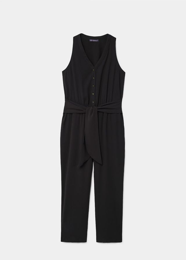 Violeta by Mango Bow Long Jumpsuit