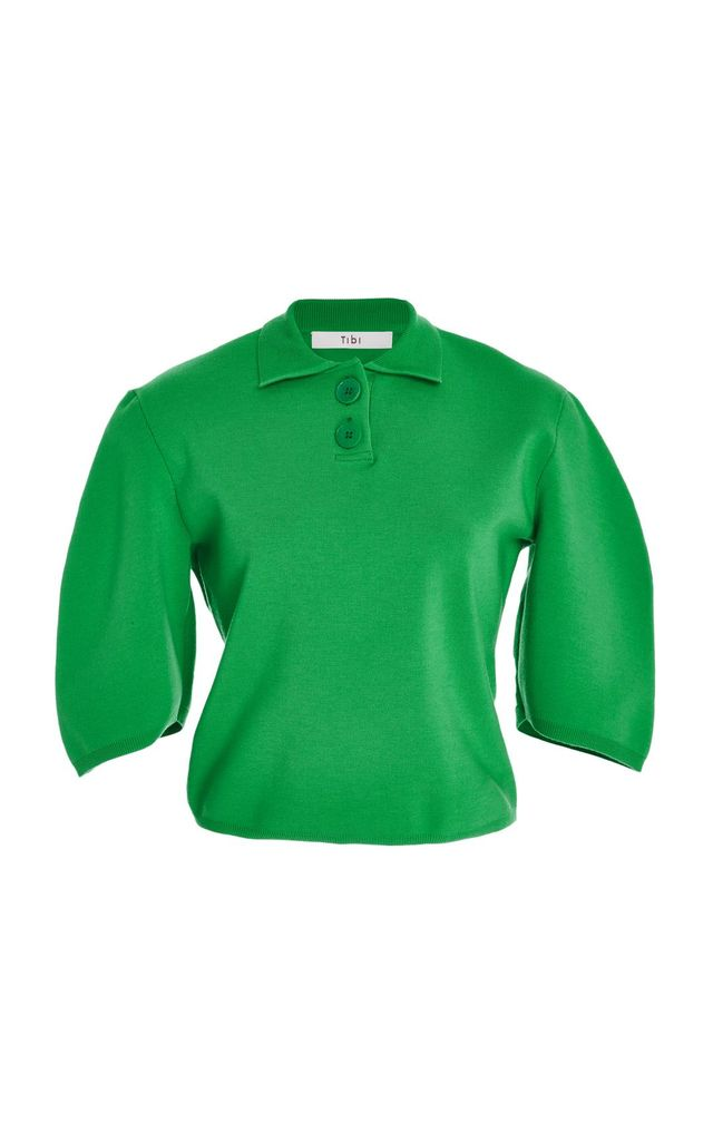 Sculpted Sleeve Polo Top
