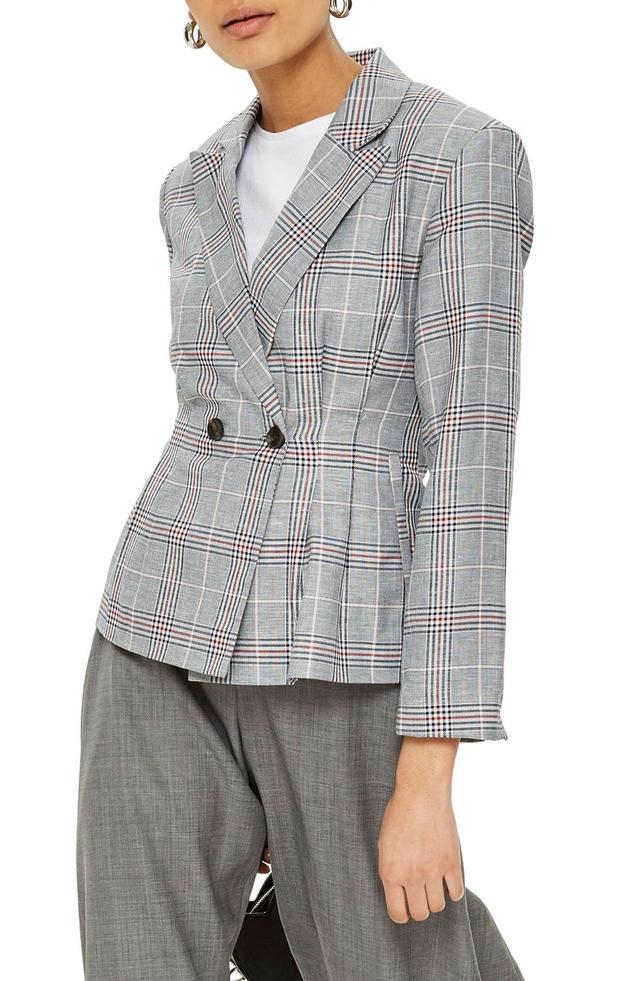 Cham Linen Checkered Jacket