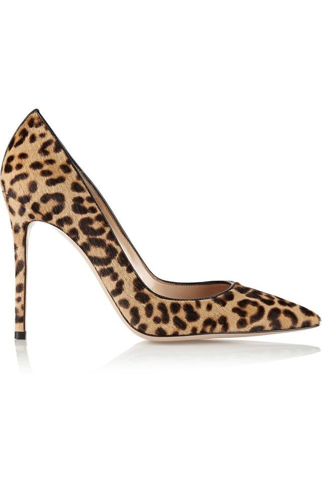 105 Leopard-print Calf Hair Pumps