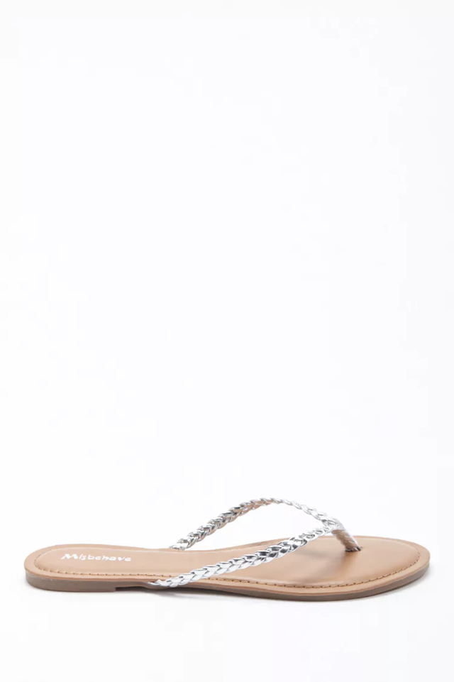 Forever 21 Braided Thong Sandals