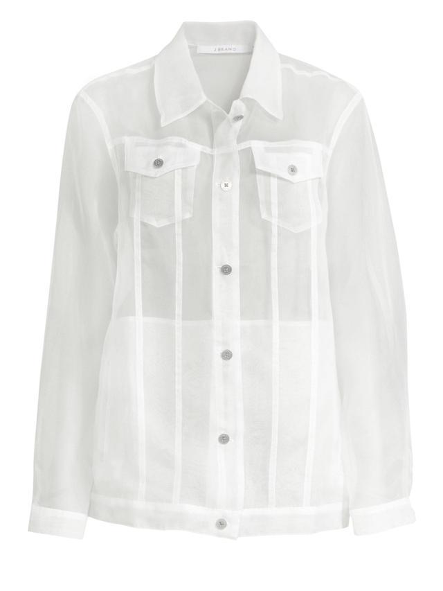 Cyra Organza Sheer Silk Jacket