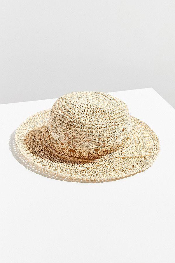 Floral Crochet Bucket Hat