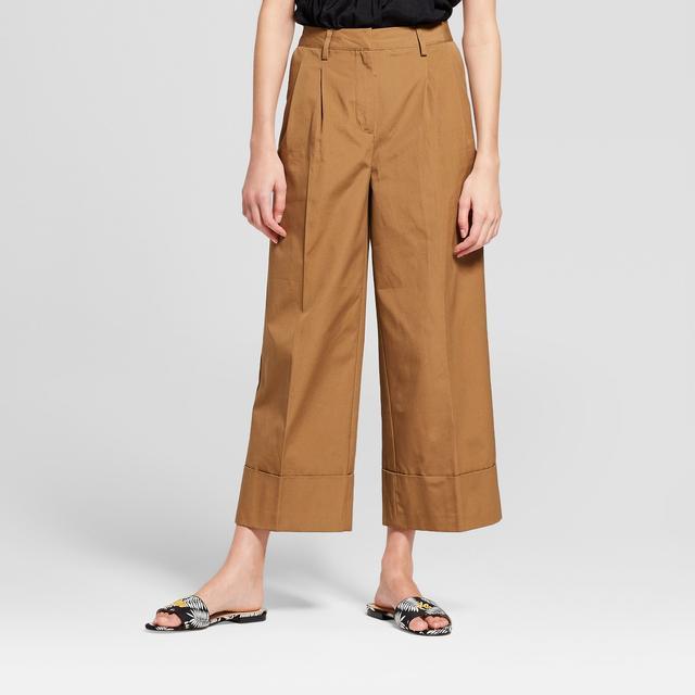 Wide Leg Tailored Crop Trouser