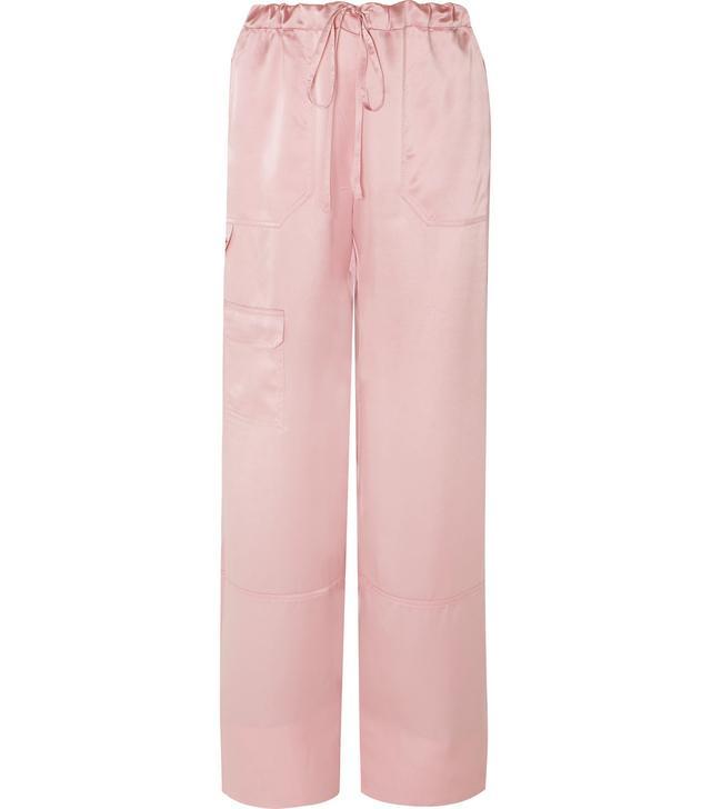 Silk-satin Pants