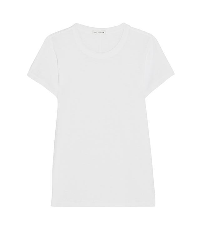 Rag & Bone The Tee Slub Cotton-Jersey T-Shirt