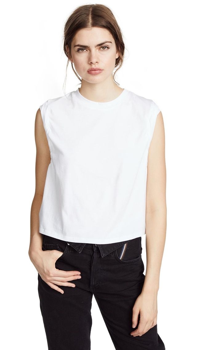 Stark Cropped Muscle Tee