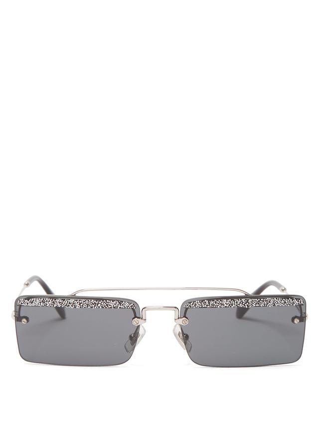 Miu Miu Rimless Rectangular Sunglasses