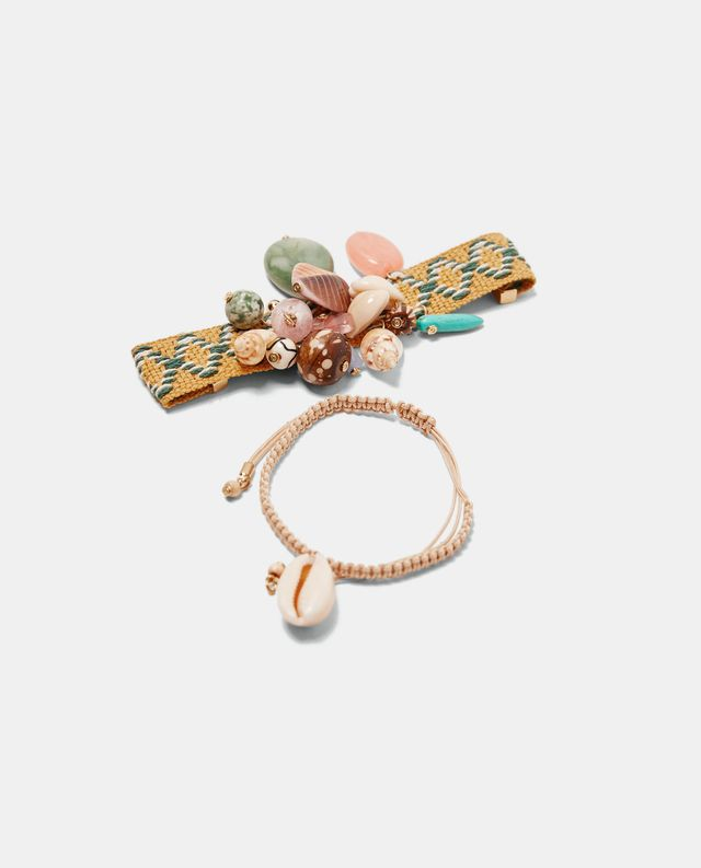 Zara Pack of Bead and Cord Bracelets