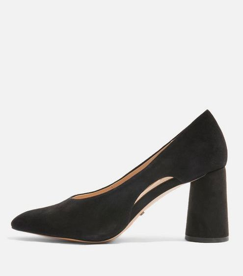 *Wide fit Ginger Leather Court Shoes