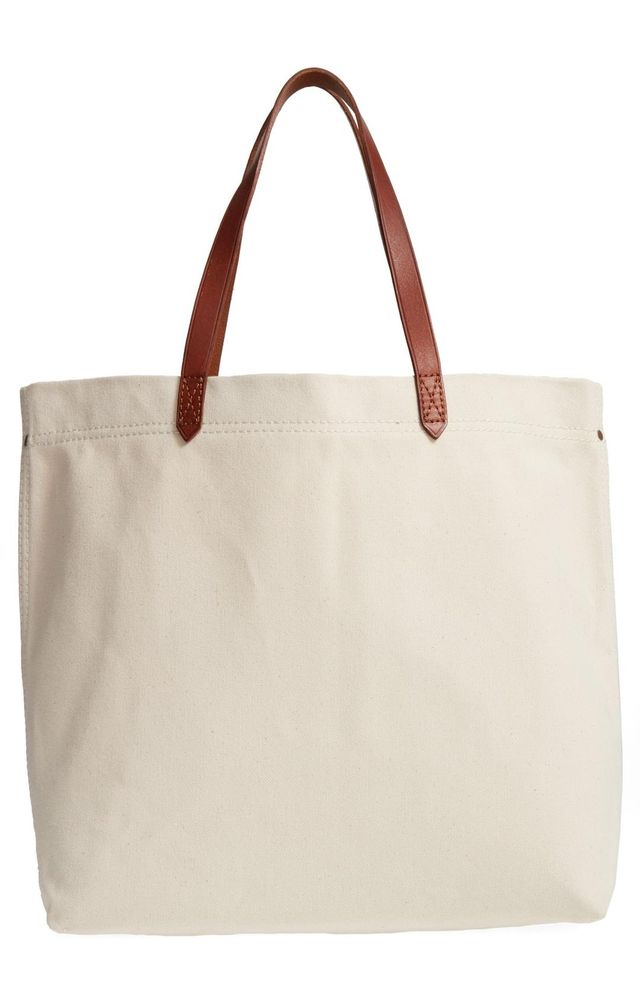Canvas Transport Tote - Brown