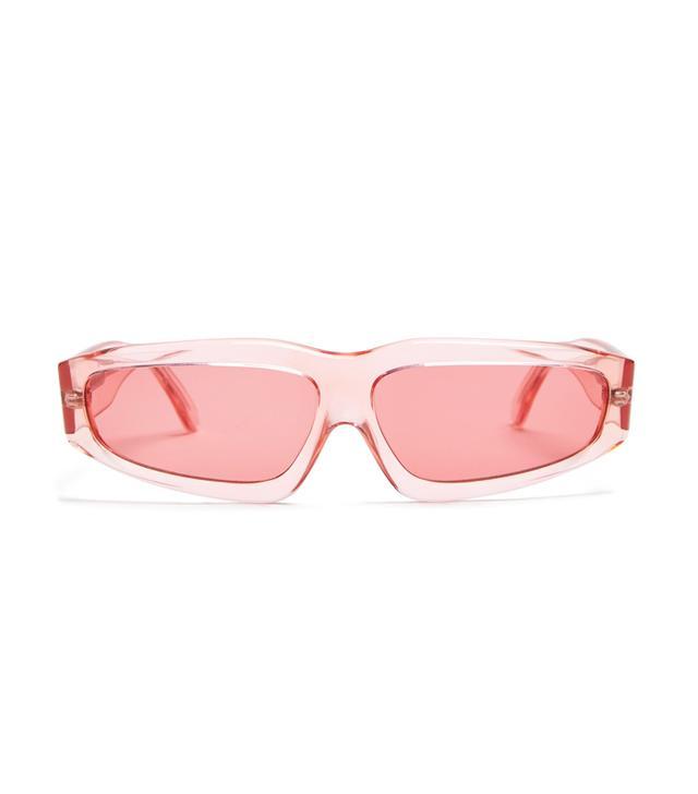 Marques'Almeida Transparent Acetate Angular-Frame Sunglasses