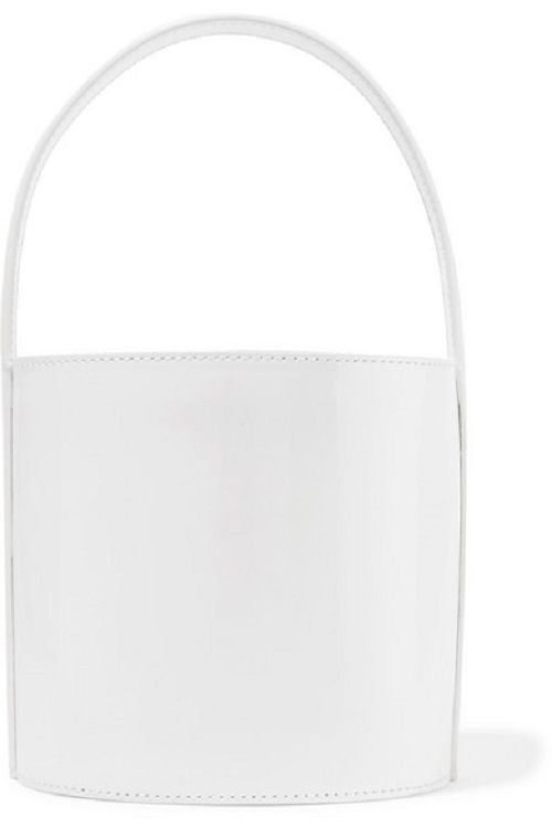 Patent White Leather Bucket Bag