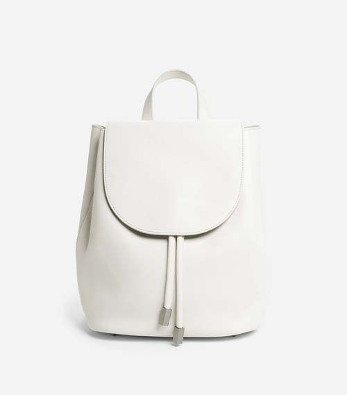 Backpack Leather Bag in White