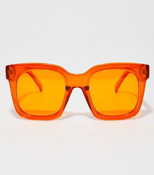 Over-sized Orange Lens Sunglasses