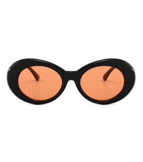 Orange Lens Oval Sunglasses