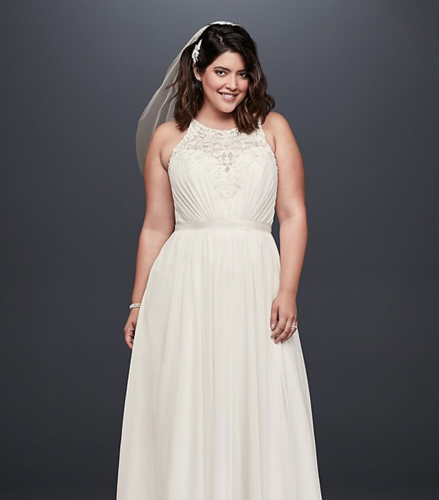 halter wedding dresses david's bridal