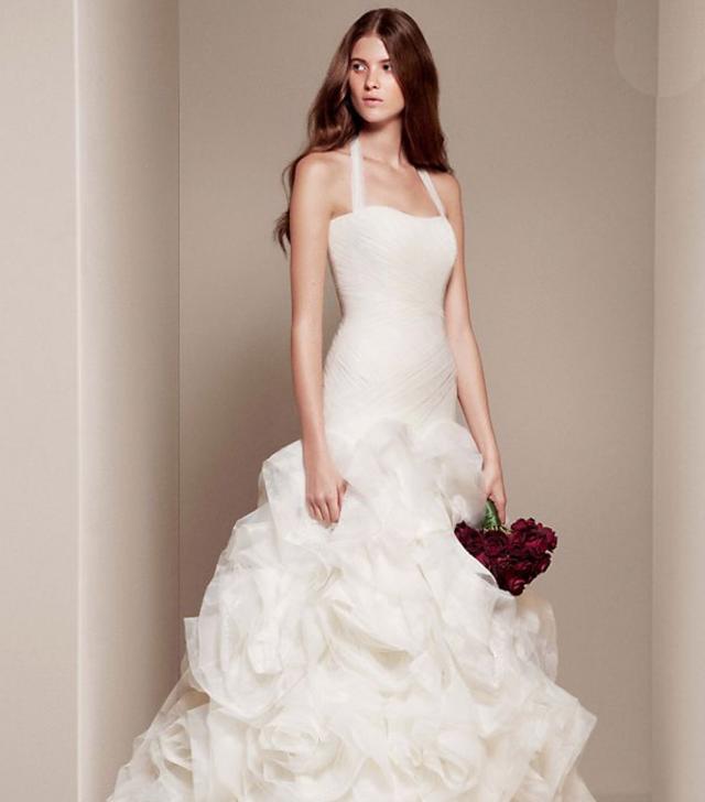halter wedding dresses white by vera wang