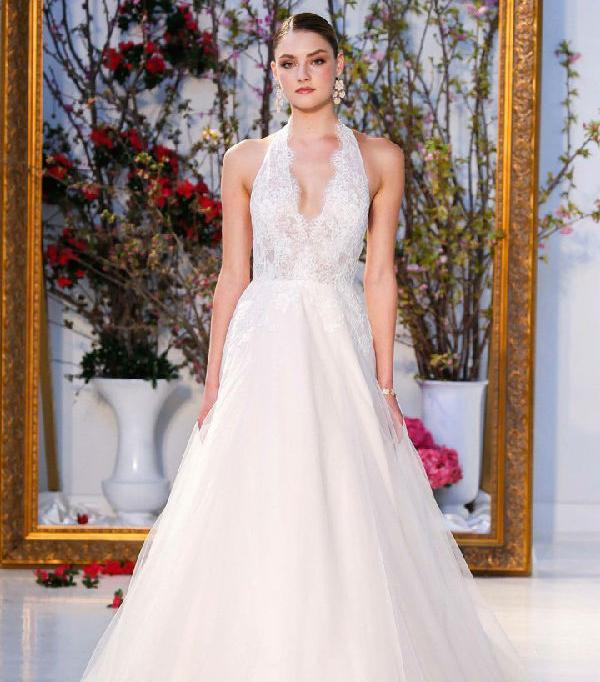 halter wedding dresses anne barge