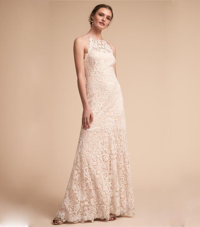 halter wedding dresses tadashi shoji