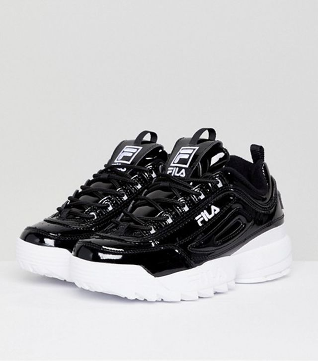 Disruptor Sneakers in Patent Black