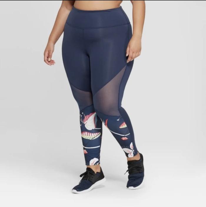 Plus Size Tropical Print Leggings by JoyLab
