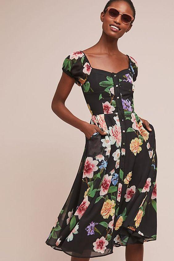 Enchanted Best Petite Summer  Floral Dresses