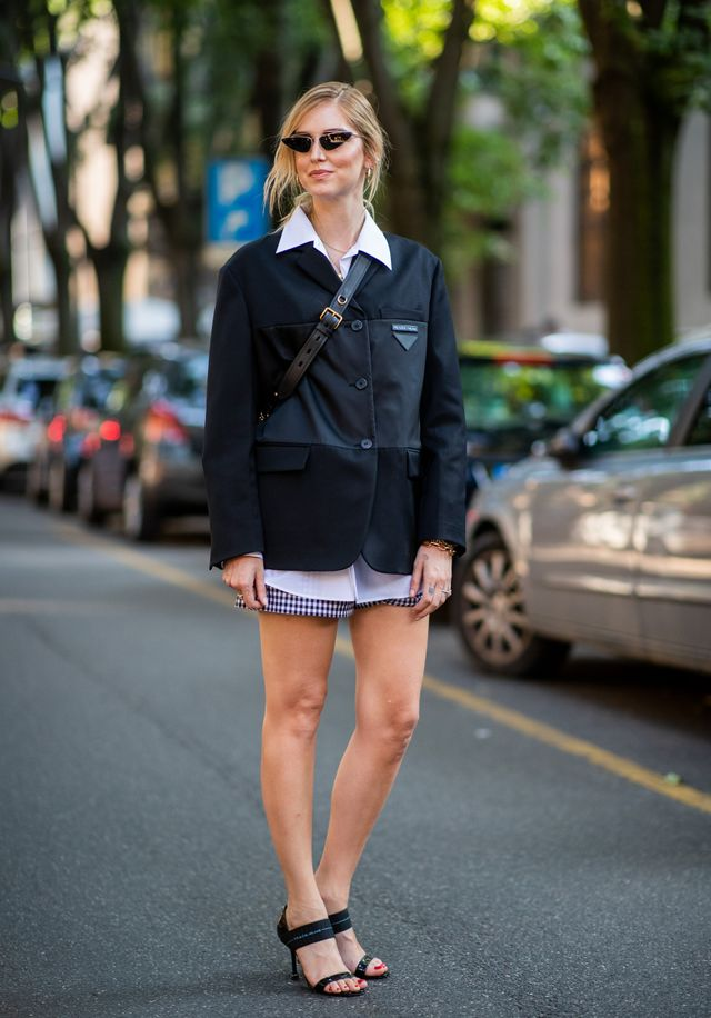 Style notes: There's nothing more comforting than an oversized jacket in winter, and this bulky blazer on Chiara Ferragni proves they can look polished, too.