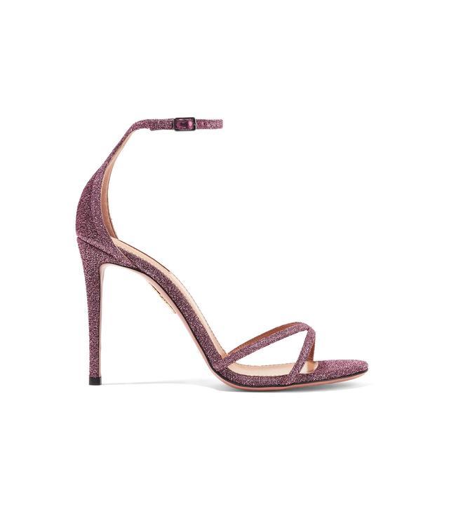 Purist Glittered Canvas Sandals