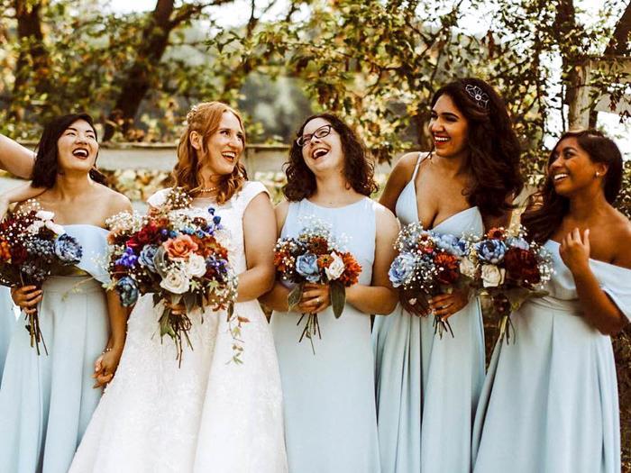 bridesmaid dress styles street style