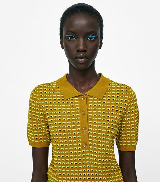 Zara Openwork Polo Sweater