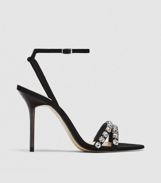 Zara Embellished Leather Sandals