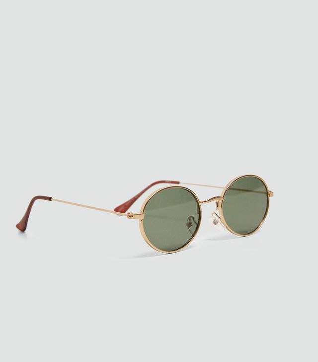 Zara Oval Metal Sunglasses