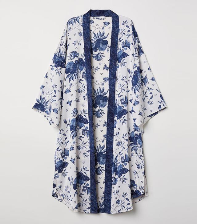 H&M Crêped Satin Kimono