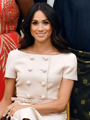Meghan Markle Just Wore Princess Diana's Signature Outfit to Buckingham Palace